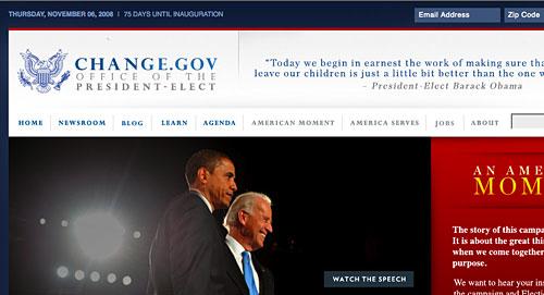 Change.gov? We'll see.