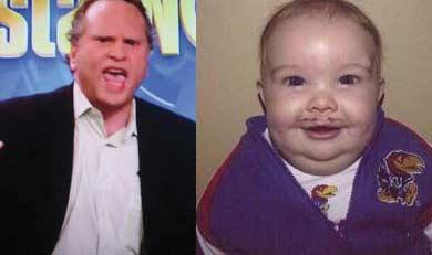 Bissinger vs. Baby Mangino. Image: Gawker